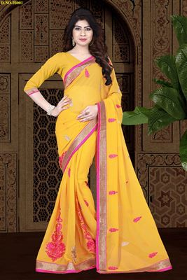 image of Shimmering Designer Embroidered Jacquard Saree