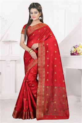 image of White Georgette Designer Saree with Embroidery