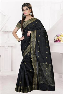 image of White Color Party Wear Traditional Silk Saree
