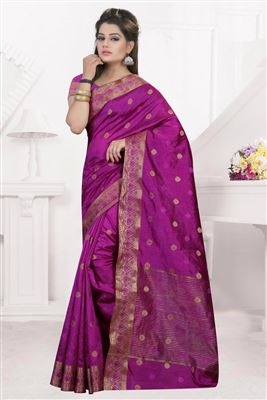image of Cream-Pink Casual Printed Fancy Georgette Saree