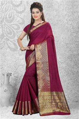 image of Pink Color Designer Chiffon-Net Fabric Saree with Embroidery