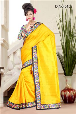 image of Opulent Party Wear Bhagalpuri Saree