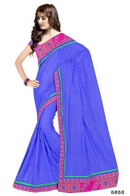 image of Gorgeous Blue Color Party Wear Saree