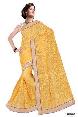 image of Brown And Peach Color Party Wear Designer Saree In Satin Fabric