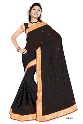 image of Chikoo-Cream Party Wear Art Silk Saree-2063