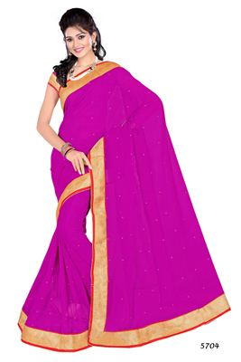 image of Attractive Beige-Red Designer Saree