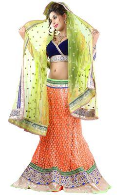 image of Hypnotic Magenta Color Wedding Wear Designer Lehenga Choli in Fancy Fabric