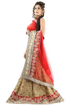 image of Black Color Wedding Wear Embroidered Net Fabric Designer Lehenga Choli