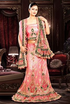 image of Sky Blue Color Net Designer Lehenga Choli with Embroidery