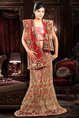 image of Mystical Wedding Bridal Art Silk Lehenga Choli