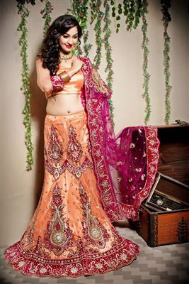 image of Designer Beige Color Bridal Lehenga Choli