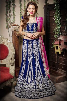 image of Elating Coffee Color Net-Shimmer Party Wear Chaniya Choli