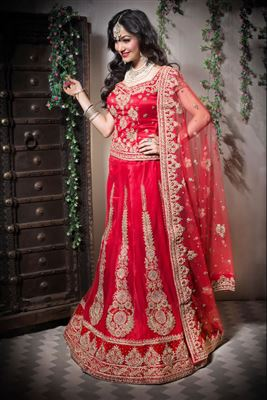 image of Zarine Khan Festive Wear Silk Lehenga Choli-22001