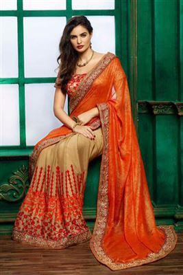 image of Fabulous Black Designer Printed Saree