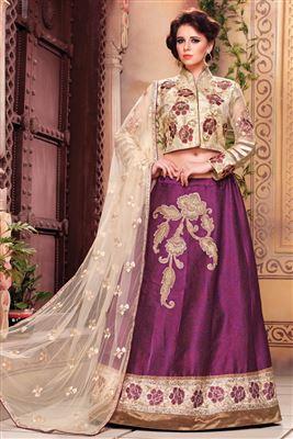image of Pink Color Alluring Net Lehenga