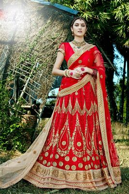 image of Cyan Color Net Enchanting Lehenga