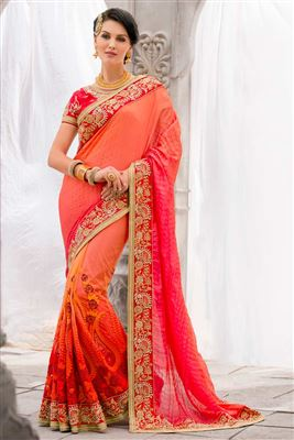 image of Cyan Color Traditional Silk Saree With Silk Blouse