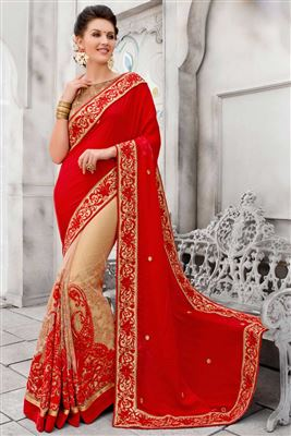 image of Breathtaking Off White Color Silk Designer Saree