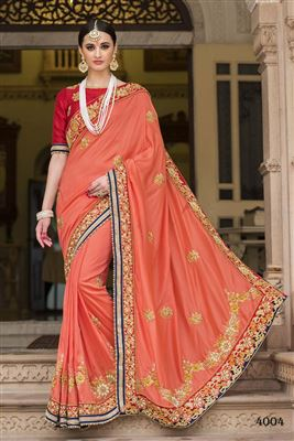 image of Pink Georgette Designer Sari with Georgette Blouse