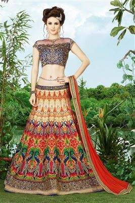 image of Pink Color Charming Designer Lehenga Choli With Embroidery Work