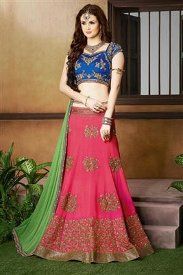 image of Wedding Wear Designer Net Lehenga Choli in Red Color