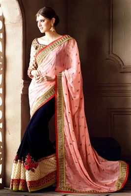 image of Exemplary Bemberg Party Wear Saree-135