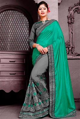 image of Marvelous Net Party Wear Saree-12809