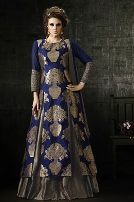 image of Fascinating Teal Color Wedding Wear Designer Lehenga Choli