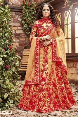 image of Net-Shimmer Party Wear Pink Color 3 Piece Bridal Lehenga Choli
