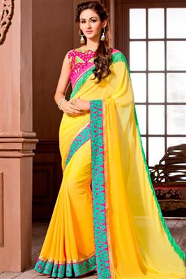 image of Lavishing Designer Party Wear Chiffon Saree