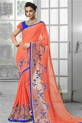 image of Elegant Collection of 2 Printed Crepe Silk Sarees
