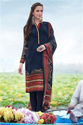 image of Black Georgette Pakistani Pattern Designer Dress
