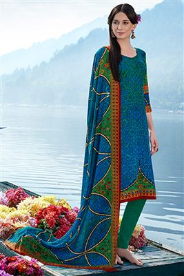image of Grey Party Wear Straight Cut Salwar Kameez-4004
