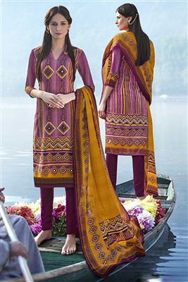 image of Peach Georgette Embroidered Salwar Kameez