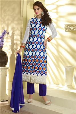 image of Magnetic Georgette And Satin Party Wear Salwar Suit