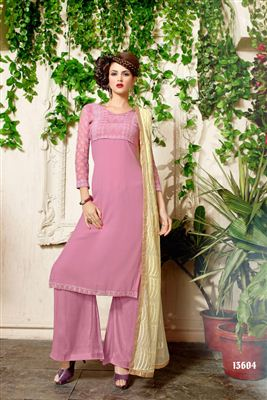 image of Yellow Designer Party Wear Georgette Salwar Suit