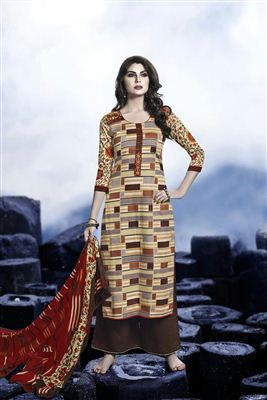 image of Cotton Party Wear Printed Salwar Suit