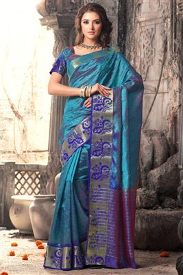 image of Pink Color Designer Shimmer-Georgette Saree-13003D