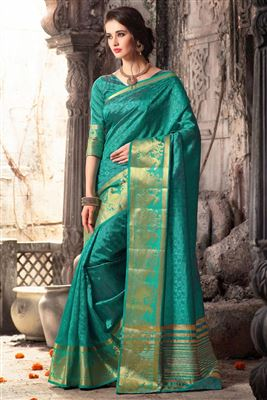 image of Green Color Elating Georgette Saree
