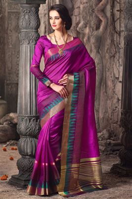 image of Charming Party Wear Pink Shimmer Saree-5670