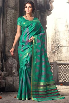 image of Party Wear Designer Art Silk Fabric Saree in Purple Color