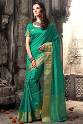 image of Traditional Party Wear Silk Saree In Purple Color