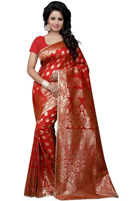 504111eb1b1016 image of Digital Print Pink Satin Silk Saree With Party Wear Blouse