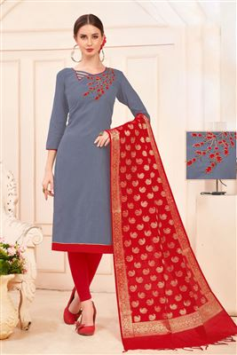 a863685f85 image of Embroidery Designs On Pink Color Party Wear Straight Cut Suit In  Viscose With Banarasi