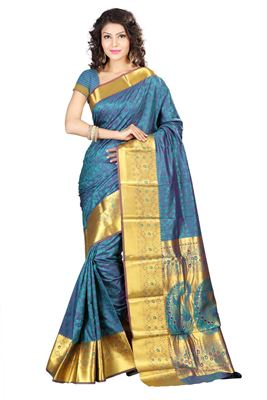 image of Pleasant Georgette Party Wear Saree