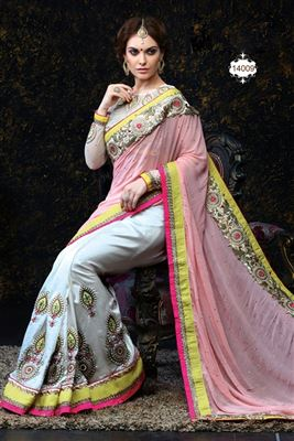 image of Gorgeous Georgette Fabric Designer Party Wear Saree