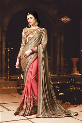 image of Green Designer Party Wear Georgette Saree