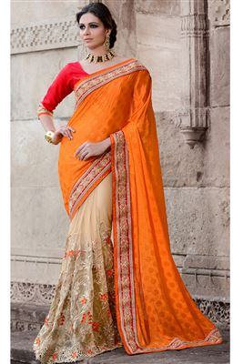 image of Angelic Wedding Wear Embroiderd Designer Saree