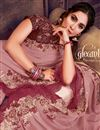 photo of Pink Color Traditional Ruffle Border Saree In Georgette Silk Fabric