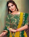 photo of Mustard Color Georgette Silk Fabric Festive Wear Ruffle Border Saree